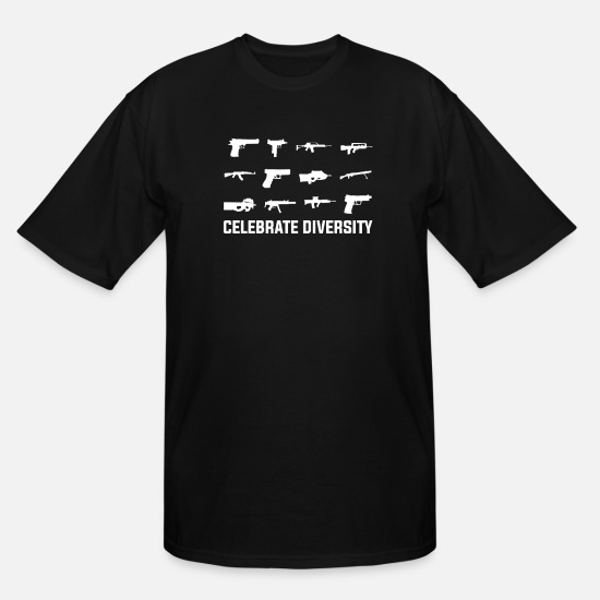 Diversity T-Shirts - Celebrate Diversity - Men's Tall T-Shirt black