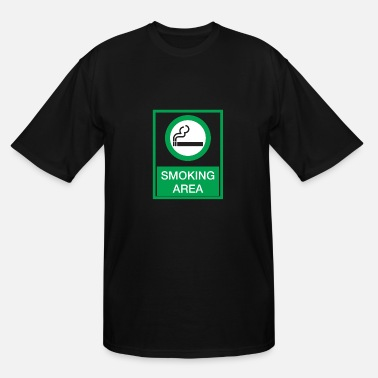 No Smoking Area Smoking area - Men's Tall T-Shirt