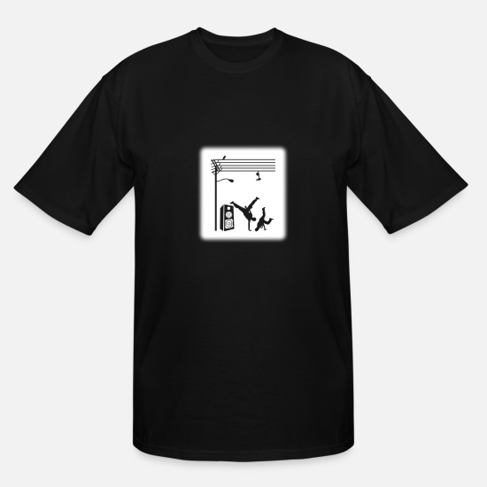 Dance T-Shirts - Break Dancing - Men's Tall T-Shirt black