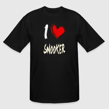 I love SNOOKER - Men's Tall T-Shirt