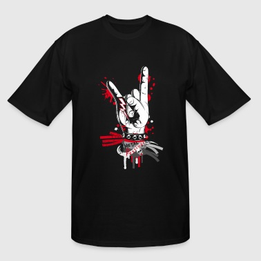 Metal and rock hand sign - Men's Tall T-Shirt