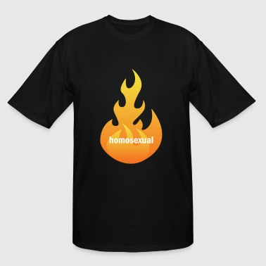 flaming homosexual - Men's Tall T-Shirt