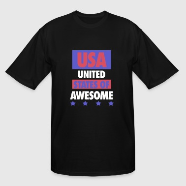Badstreet Usa USA - United States of Awesome - USA - Men's Tall T-Shirt