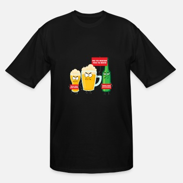 Water Festival Save Water Drink Beer - Men's Tall T-Shirt