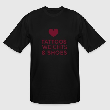 Golds Gym Gym - tattoos weights and shoes - Men's Tall T-Shirt