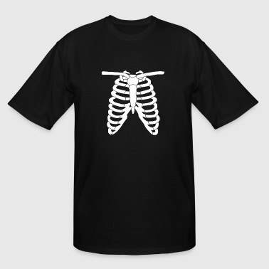 Cute Maternity Halloween Costume Costume - Skeleton Ribcage Halloween Costume An - Men's Tall T-Shirt