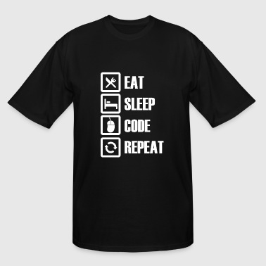 Programmer - Eat Sleep Code Repeat - Men's Tall T-Shirt