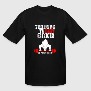 Goku - Training To Beat Goku Funny Gag Shirt Fro - Men's Tall T-Shirt