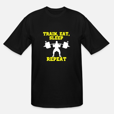 Personal Training Weightlifting - Train Sleep Eat Repeat personal - Men's Tall T-Shirt