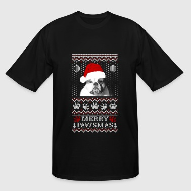 Paws dog - Ugly Christmas Sweater - Men's Tall T-Shirt