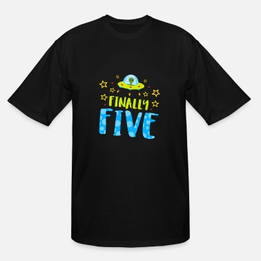 Bursdag Birthday - Finally Five Year Old Boy Birthday - Men's Tall T-Shirt