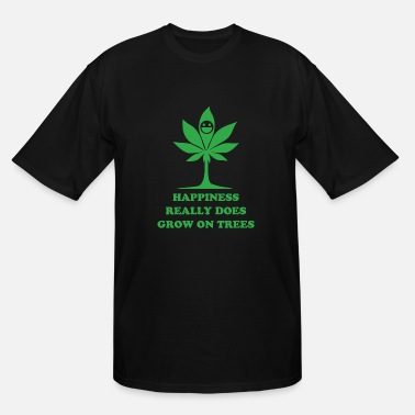 Cannabis Cannabis - happiness really does grow on trees - Men's Tall T-Shirt