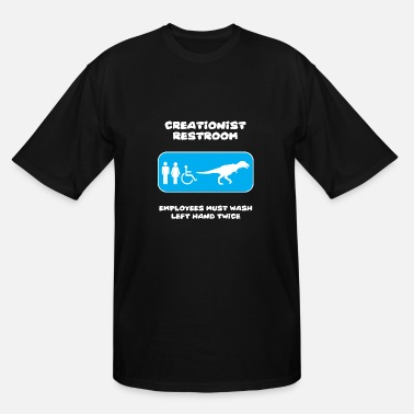 Restroom Creationist - Creationist Restroom Sign - Men's Tall T-Shirt