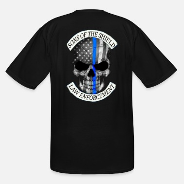 Law Enforcement SONS OF THE SHIELD (corrected) - Men's Tall T-Shirt