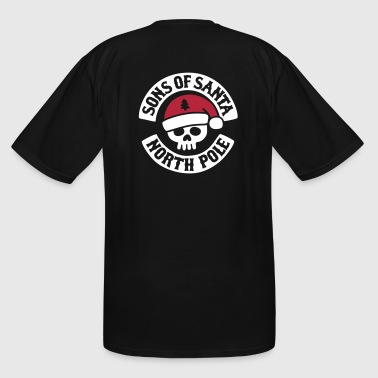Sons Sons of Santa - North Pole - Biker MC Motor Club - Men's Tall T-Shirt