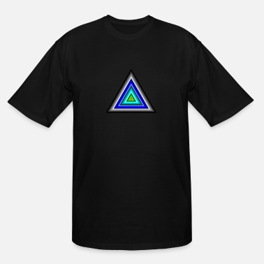 Triangle Triangles in Triangle - Men's Tall T-Shirt