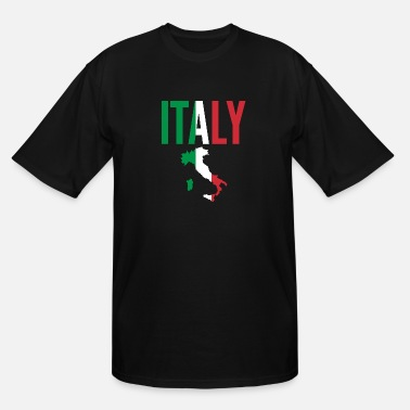 Italy Italian Gift - Italy Map Country - Men's Tall T-Shirt