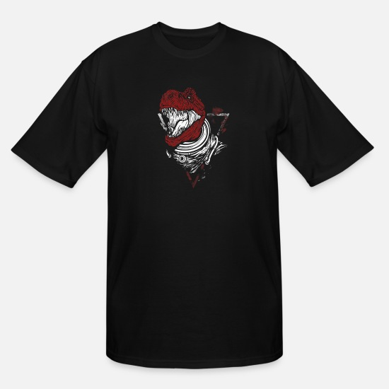 Red T-Shirts - Red Trex - Men's Tall T-Shirt black