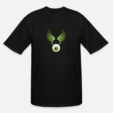 Evil Evil Eye with Wings - Men's Tall T-Shirt