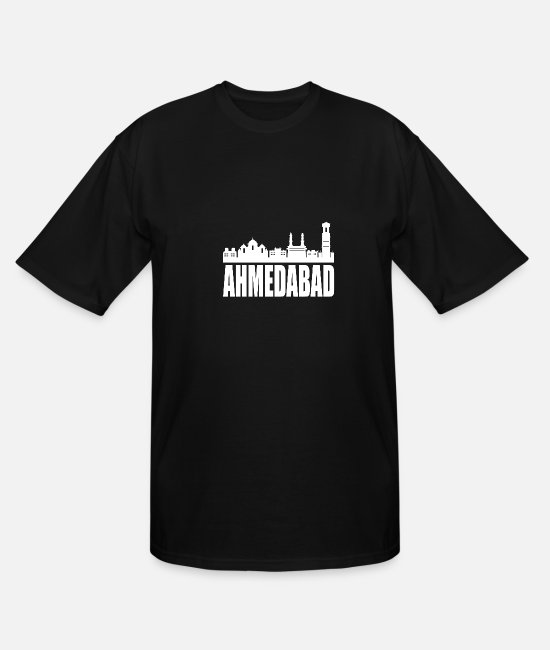 Ahmedabad T-Shirts - Ahmedabad Hyderabad India - Men's Tall T-Shirt black