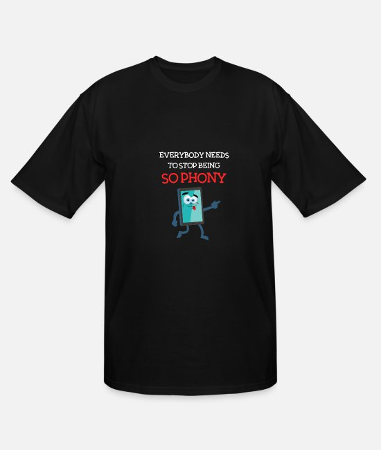 Electricians T-Shirts - Mobile phone ban - without mobile phone, smartphon - Men's Tall T-Shirt black
