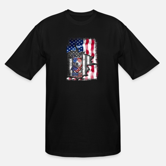 Australian T-Shirts - Australian Cattle Dog Shirts Fun American Flag Gif - Men's Tall T-Shirt black