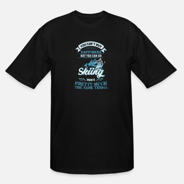 Happyness HAPPYNESS IS SKIING Back - Men's Tall T-Shirt