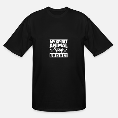 Barbecue My Spirit Animal is Brisket Smoking Meat Barbecue - Men's Tall T-Shirt