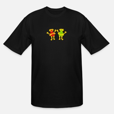 Miscellaneous Joyful happy miscellaneous 2 friends team couple s - Men's Tall T-Shirt