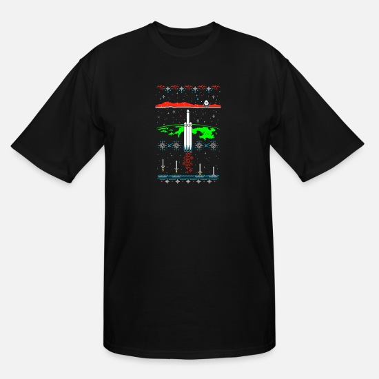Spacex T-Shirts - Space X-mas - Men's Tall T-Shirt black