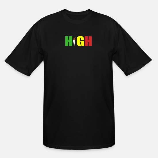 Rasta T-Shirts - HIGH rasta - Men's Tall T-Shirt black