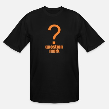 Mark Something question mark - Men's Tall T-Shirt