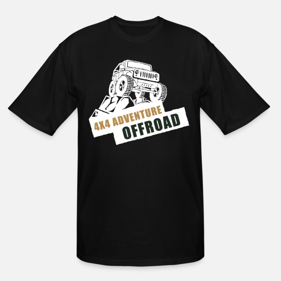 Wheel T-Shirts - Adventure Offroad - Men's Tall T-Shirt black