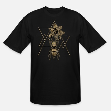 Insect insect geometry art beetle triangle - Men's Tall T-Shirt