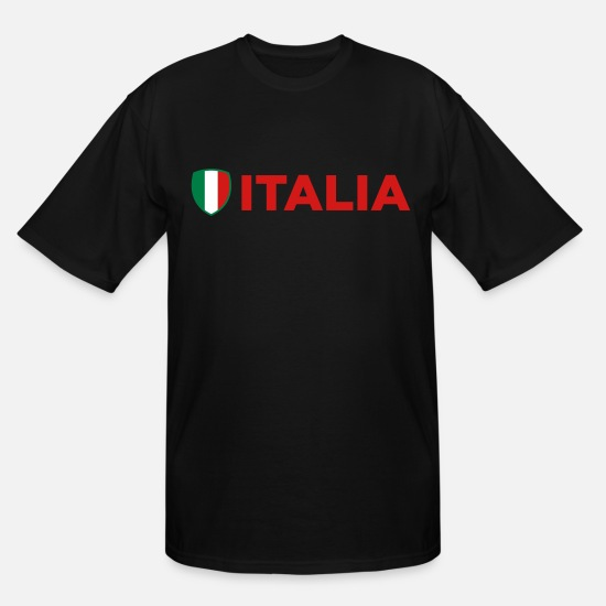 Mafia T-Shirts - National Flag of Italy - Men's Tall T-Shirt black