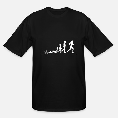 Girl Running Running athlete - Men's Tall T-Shirt