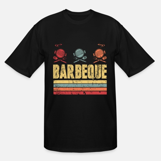 Garden T-Shirts - Barbeque Grill Hobby Summer Gift - Men's Tall T-Shirt black