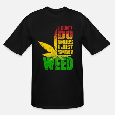 Hemp Reggae grid love weed - Men's Tall T-Shirt