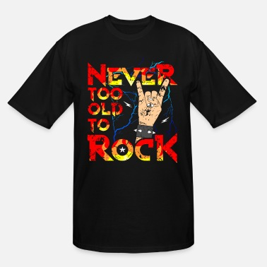 Rocknroll Rock Grandpa Grandma RocknRoll Metalhead - Men's Tall T-Shirt