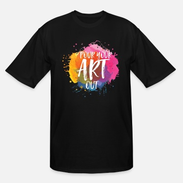 Painting art artist colour art painting painting painting - Men's Tall T-Shirt