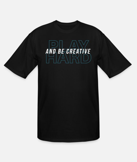 Play T-Shirts - creative - Men's Tall T-Shirt black
