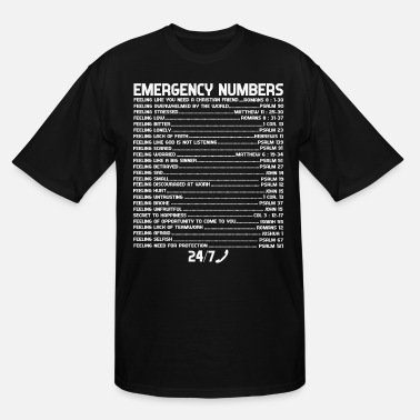 Jesus Bible Emergency Numbers Holy Hotline - Men's Tall T-Shirt