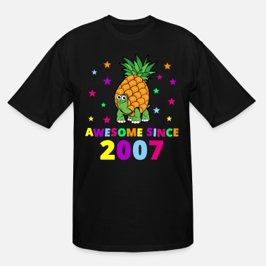13th Birthday Awesome Since 2007 Birthday Gift - Men's Tall T-Shirt