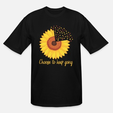 Health Choose To Keep Going Sunflower Mental Health - Men's Tall T-Shirt