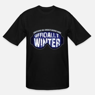 Mulled Wine Official Winter On Energy Saving Mode Setting - Men's Tall T-Shirt