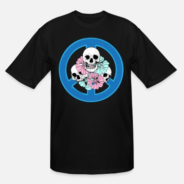 Peace Vigin Mary Skull T-Shirt dead Mens Long Sleeve