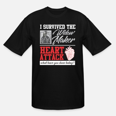 Heart Heart Surgery Survived Widow Maker Heart Attack - Men's Tall T-Shirt