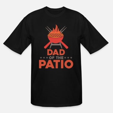 Bbq Supply Father of the Patio Grillmaster Meat summer Grill - Men's Tall T-Shirt