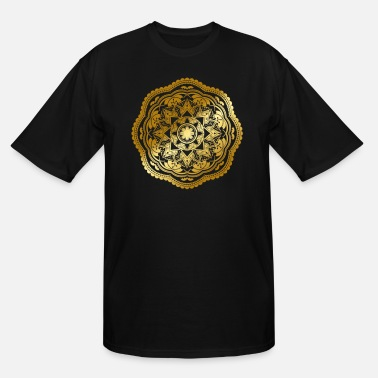 Discipline Mandala Flower Spiritual Buddhist Yoga Meditation - Men's Tall T-Shirt