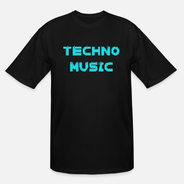 Vinyl Techno Music Rave Music Electronic Dance heartbeat - Men's Tall T-Shirt
